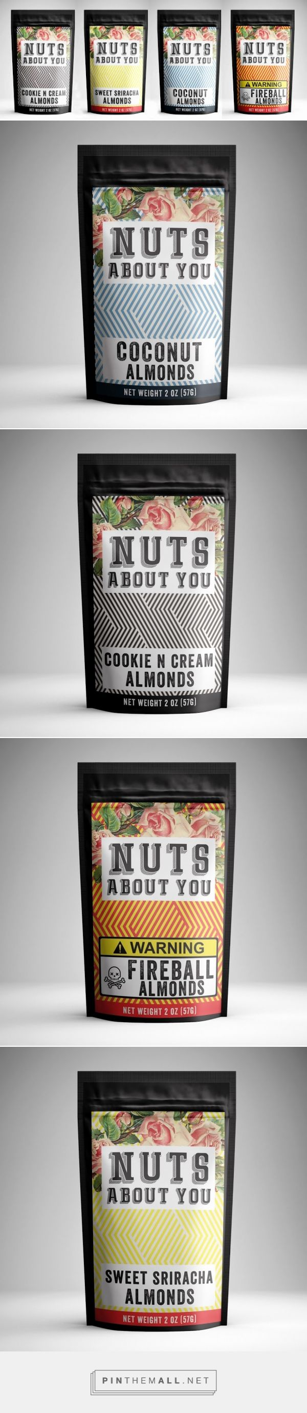Addictive Flavored Almond Packaging by Nuts About You | Fivestar Branding Agency – Design and Branding Agency & Curated Inspiration Gallery