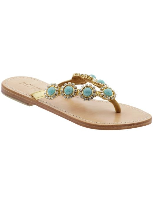 I love these. Yes, I am aware that I do not need even one more pair of flat leather sandals, but these are just soooo pretty! Mystique at Piperlime. $155