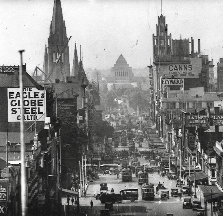 Swanson street Melbourne 1935