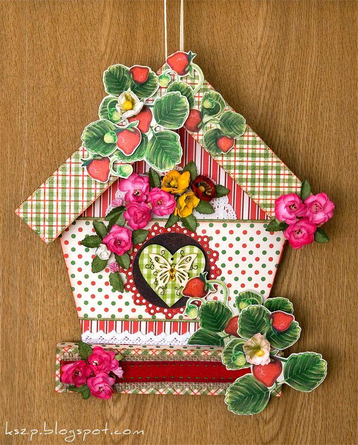 Открытка с домиком скрапбукинг, днем рождения открытка
