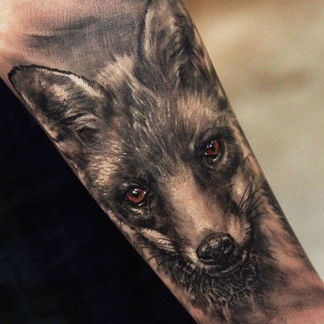 tatouage renard homme
