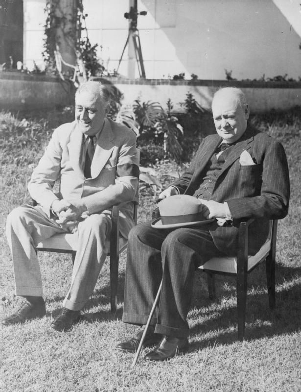 Image result for president roosevelt met with england's prime minister churchill in 1943