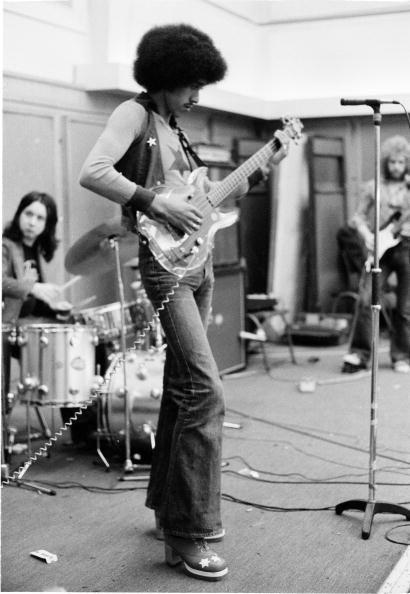 Candid shot of Thin Lizzy's Phil Lynott rehearsing. #thinlizzy #phillynott
