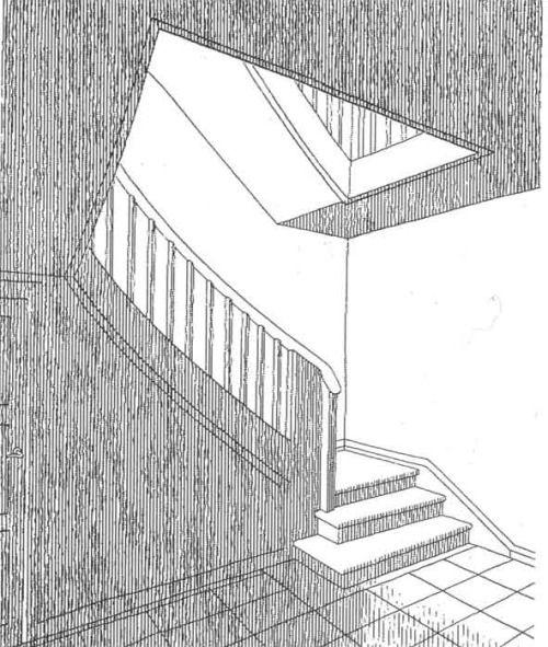 Heinrich Tessenow, interior of a house. Published in Der Wohnhausbau in 1909.