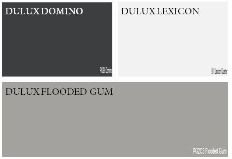dulux flooded gum Weatherboard, trim and front door
