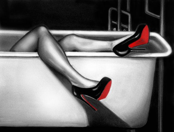 Hey, I found this really awesome Etsy listing at https://www.etsy.com/listing/129977246/oil-painting-christian-louboutins-sexy
