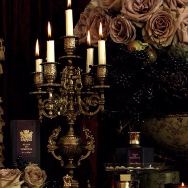 beautifully styled little vignette moody presentation dark gothic and sexy - Beautiful Halloween Decorations