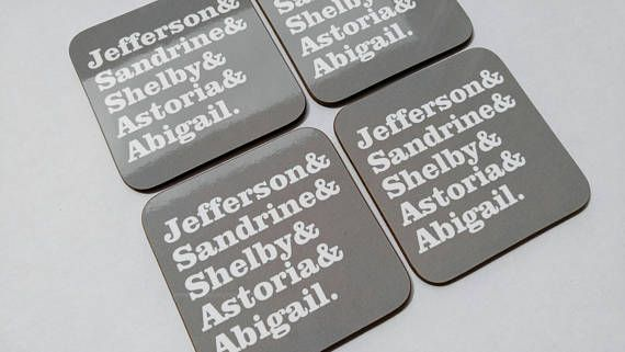 Housewarming Gift Personalized Family Name Family Gift Coaster