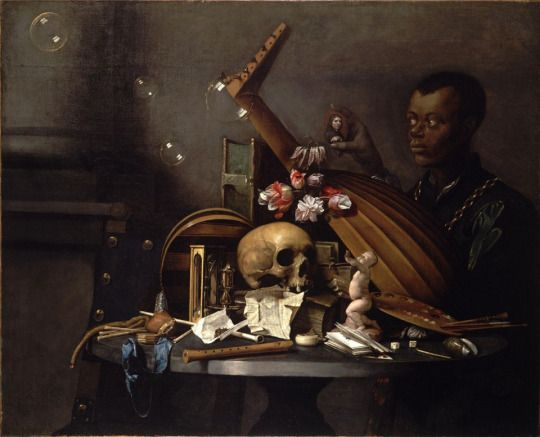 David Bailly Vanitas with Portrait Netherlands (ca. 1650) Oil on canvas 37 ¼ x 45 ¾ in. (95 x 116 cm) Vanitas- Latin for vanity, refers to a type of still life consisting of a collection of objects that symbolize death; the brevity of human life and the transience of earthly pleasures and achievements (e.g., a human skull, a mirror, and broken pottery). Such paintings were particularly popular in the sixteenth and seventeenth centuries, especially in the Netherlands