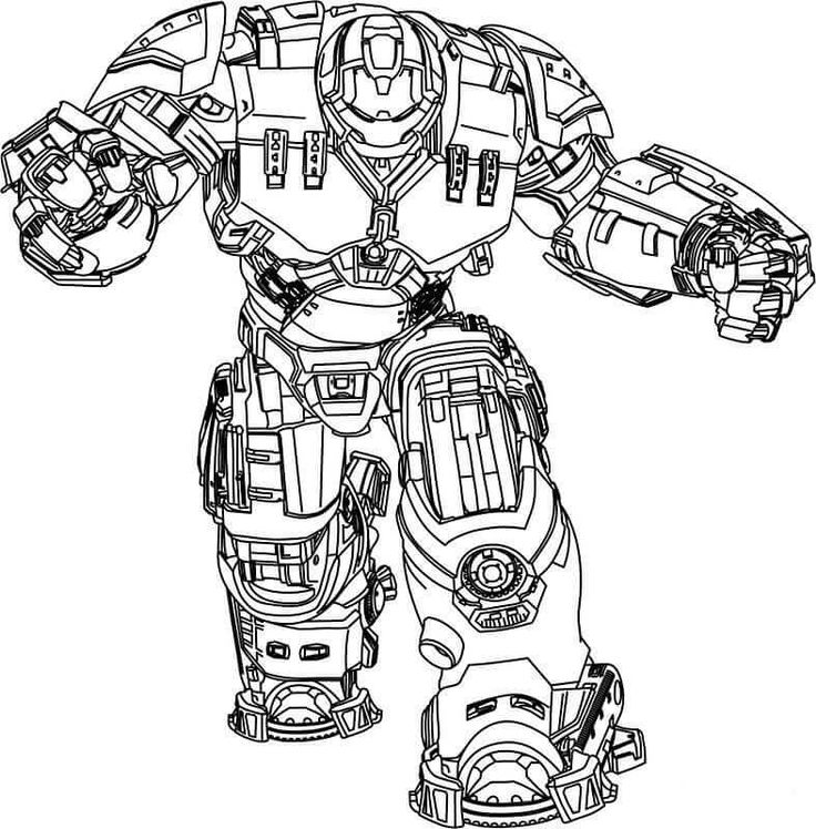 iron man hulkbuster coloring pages  avengers coloring