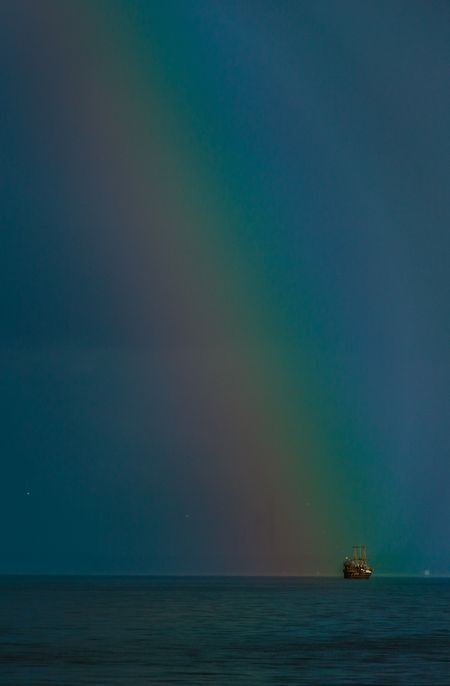Sea rainbow  Photo by Vladimir Cheberkus — National Geographic Your Shot