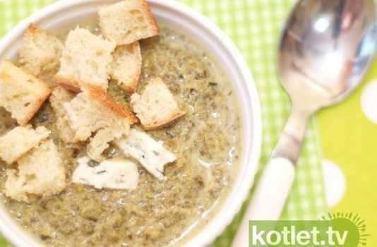 Zupa krem szpinakowy