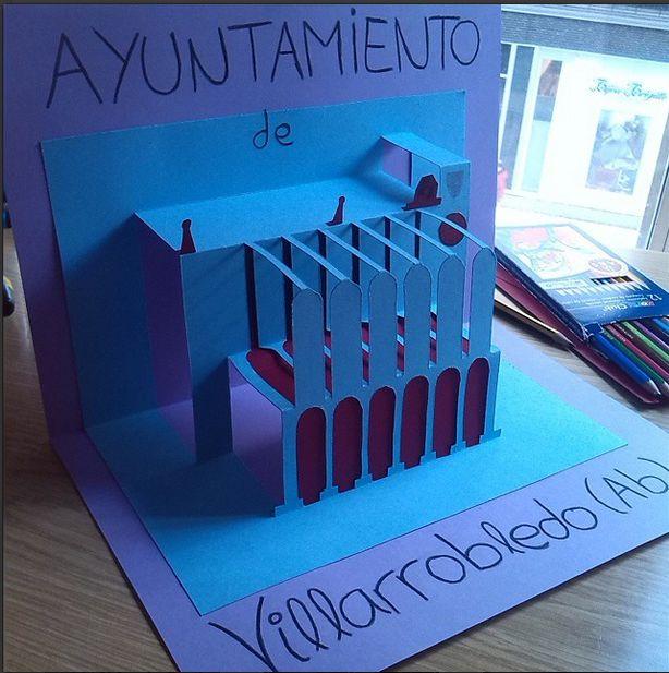 Unidad 4.-El origen de la forma: Transformación. Kirigami. Ayuntamiento de mi pueblo, Villarrobledo.