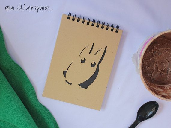 Studio Ghibli Theme Notebook  Chibi Totoro by OtterspaceStudio