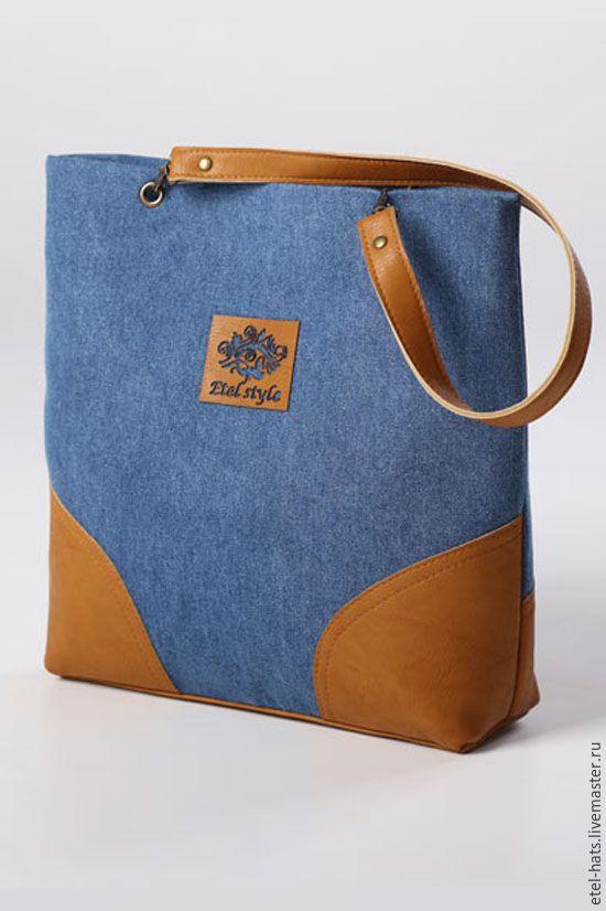Купить сумка джинсовая - голубой, джинсовый стиль, джинсовая сумка, комбинированный, искусственная кожа