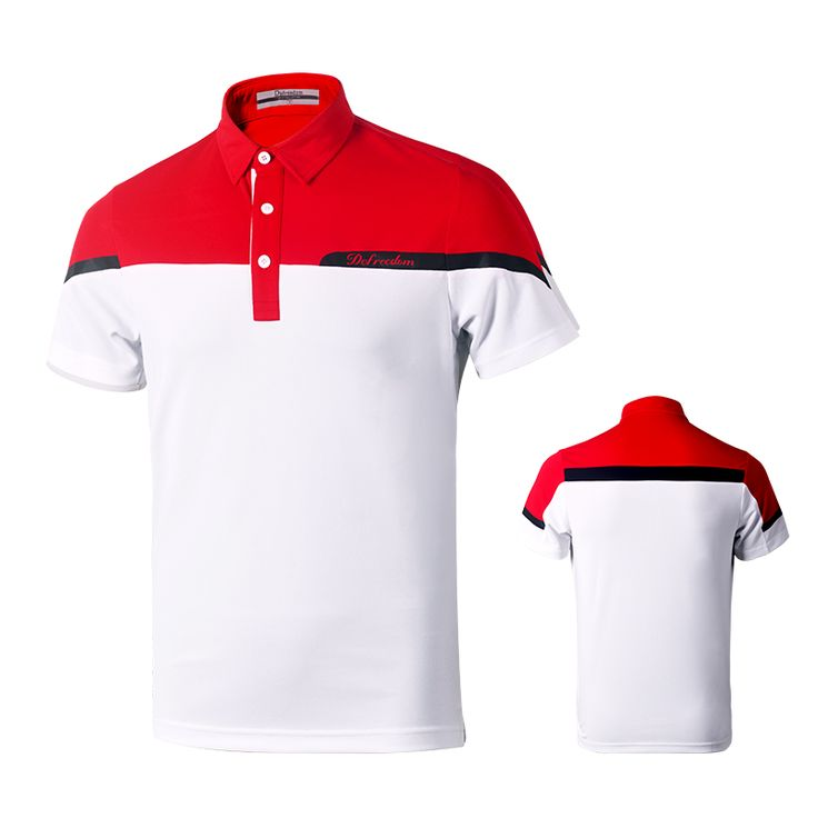 New DEFREEDOM Golf clothing golf Shirt Short Sleeved men's clothing summer fast dry Free shipping 3190