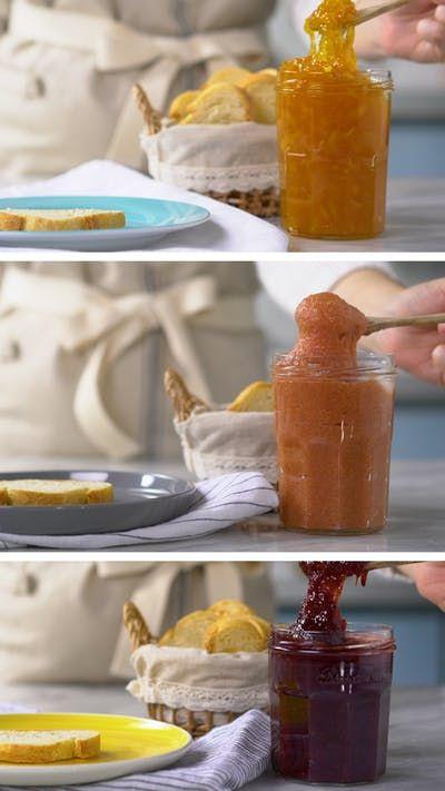Aprenda a fazer três receitas de geleias caseiras deliciosas para servir no café da manhã ou lanche da tarde!