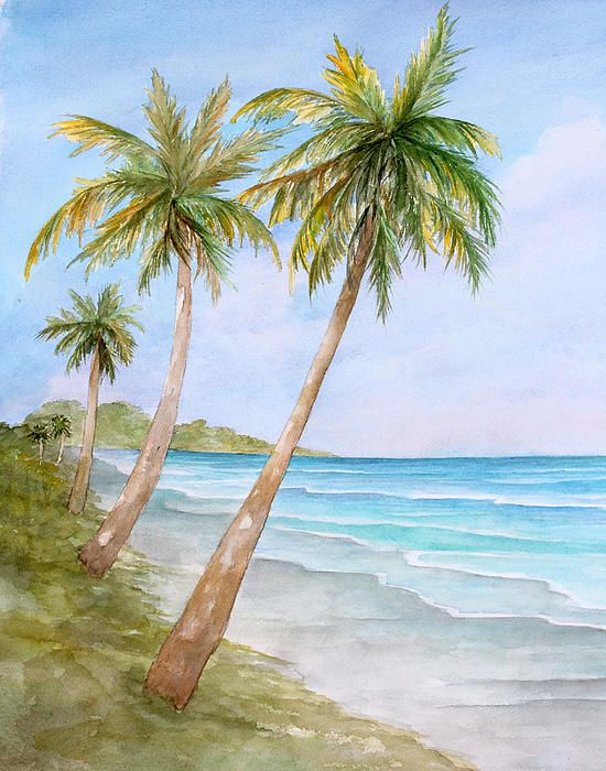 Swaying Palms - Watercolor