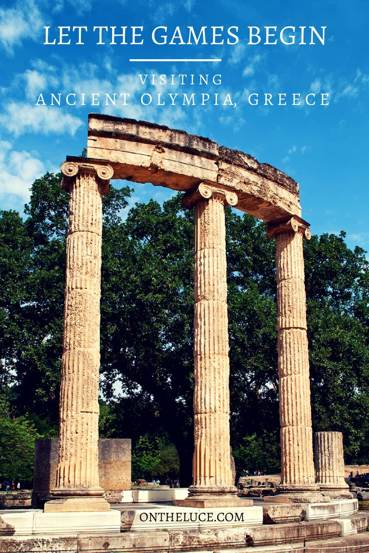 Visiting the ruins of Ancient Olympia in Greece #Olympics #Olympia #Greece