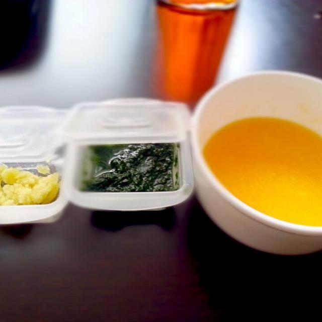 病み上がり回復食 さつまいも、小松菜、かぼちゃのトロトロスープ - 0件のもぐもぐ - 離乳食 初期 by るか