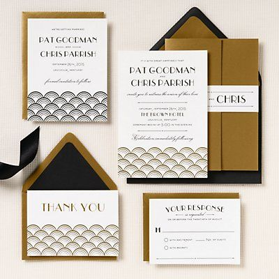 Gold Scallops Wedding Invitation Pat Chris Paper Source Paper