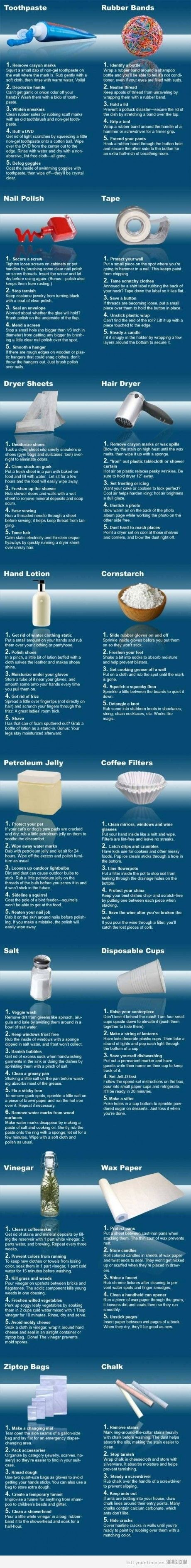 Handy Uses For Common Household Items