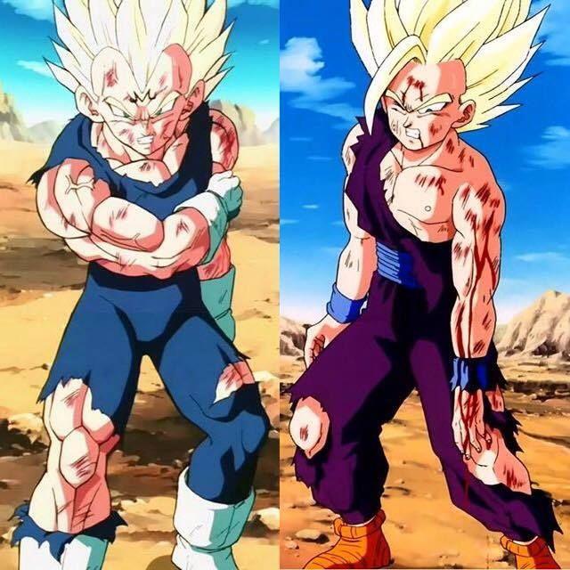 Majin Vegeta vs. Super Saiyan 2 Teen Gohan