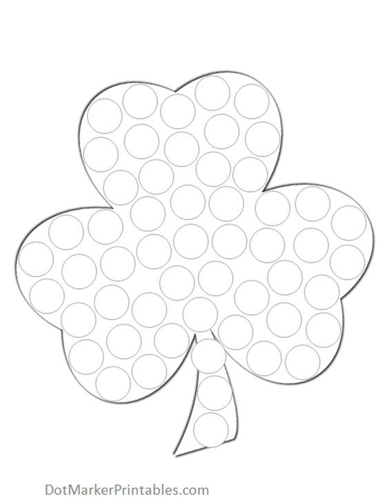 St. Patrick\'s Day Dot Activity Printables | Worksheets, Markers and ...