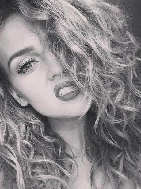 Perrie Edwards Curly Hair Selfie