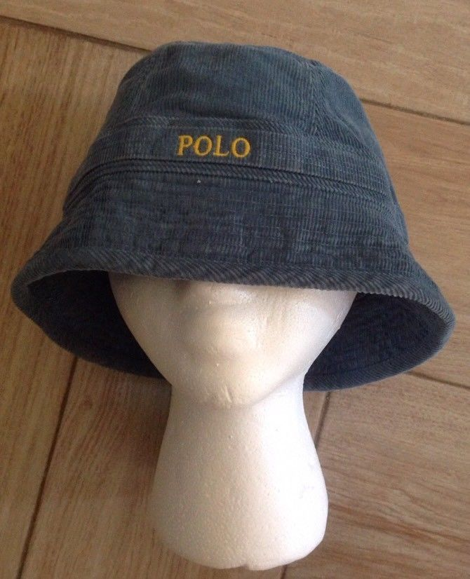 d929c6558ea Vintage Polo Ralph Lauren Bucket Hat Sz S M Blue Corduroy Fishing Cotton  Rare  PoloRalphLauren  BucketHat