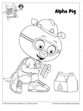 Alpha Pig Coloring Page Super WHY Pages For Kids