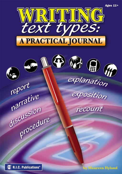 Writing text types: A practical journal (Ages 11+) is a full-colour resource designed to help teachers promote and develop a range of writing skills.