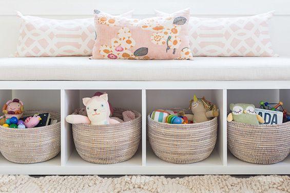 ספסל מכוורת של איקאה בחדר ילדים