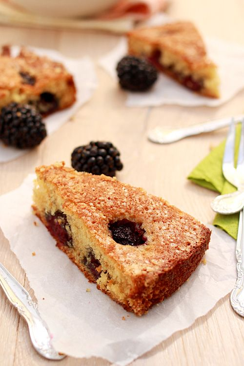 Buttermilk Cake with Blackberries: nothing beats a slice of freshly ...
