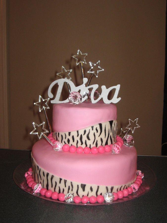 Diva Birthday Party Ideas | Diva Birthday Cake