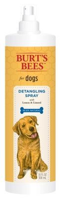 DOG GROOMING - CONDITIONERS - BURTS BEES DETANGLING SPRAY LEMON OIL/LINSEED OIL 10OZ