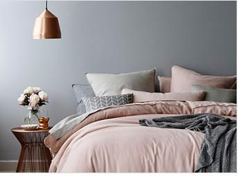 I love the neutral gray wall color