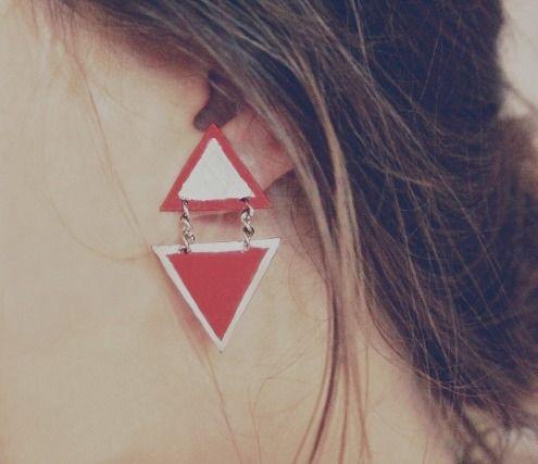 Ważkowa : Diy kolczyki trójkąty