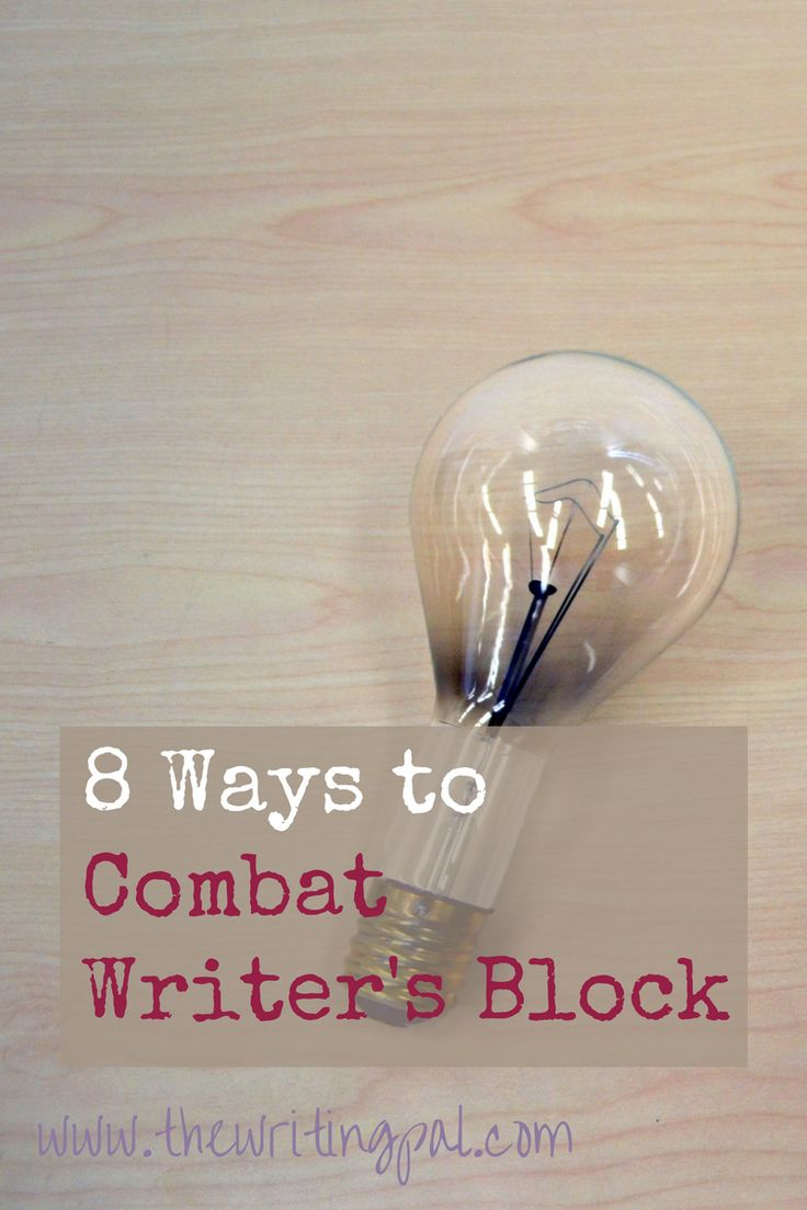 ways to help writers block This is another application that will help to crumble your writer's block into little pieces and leave you with a vision of where your characters need to go it also has a clever feature that will allow you to keep track of your characters, places where they live or travel to, and other scenarios.