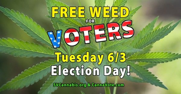 Attention San Jose, CA Voters #FreeWeed #California #Election #June #Dispensaries #SanJose