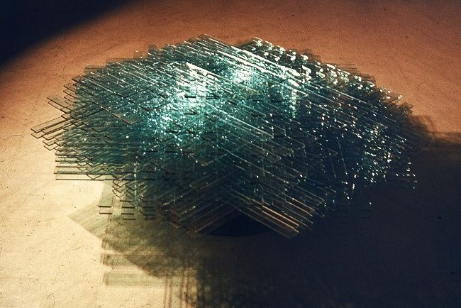 Rudolf Bone - Megalopolis, 1986, glass and river stone (detail)