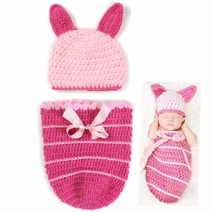 Горячие животных младенческой русалка костюм, Новорожденного шляпу, Бабочка детская одежда комплект, Улитка детские фото опора крючком одежды # JH020 купить на AliExpress