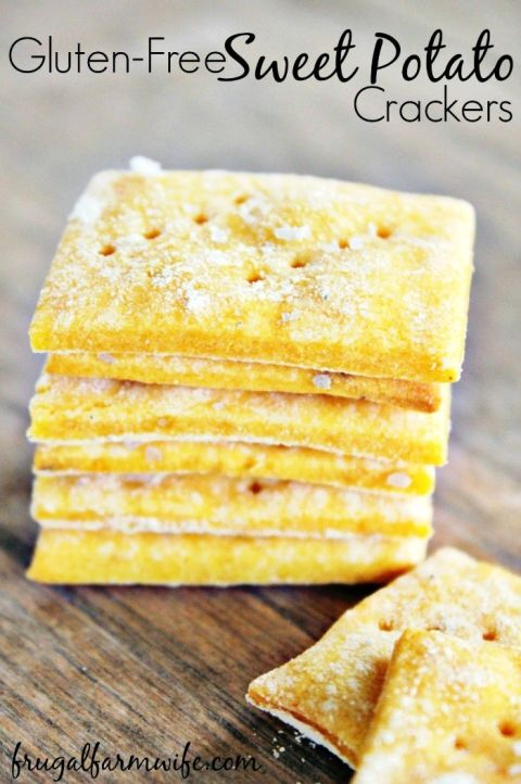 Gluten-Free Sweet Potato Crackers