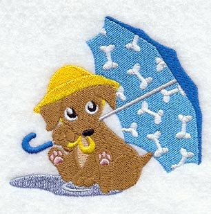 Payton Puppy Under Umbrella Embroidered Terry Kitchen Towel Bathroom Hand  Towel Part 64
