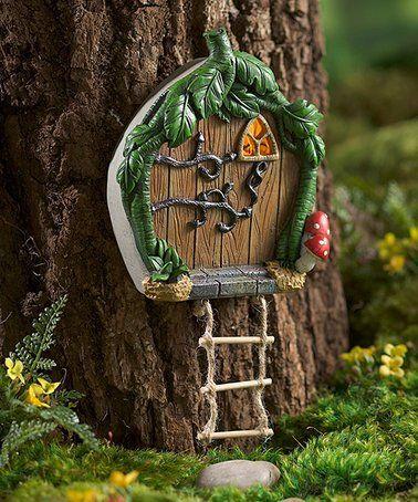 Love this Miniature Fairy Garden Ladder Solar Door on #zulily! #zulilyfinds
