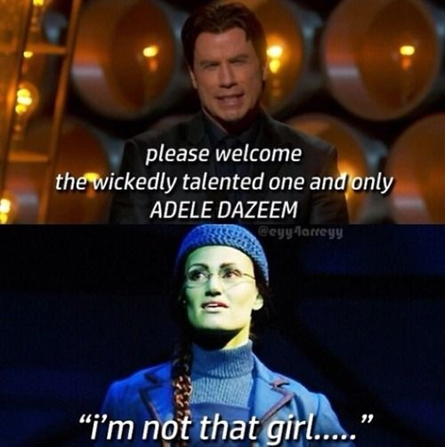 adele dazeem #oscars2014 oh my gosh I am so happy someone addressed this I was like THAT IS NOT HERE NAME