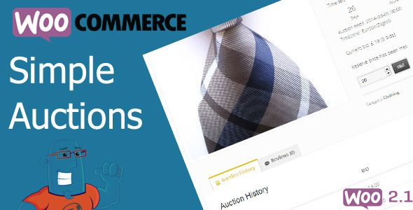 Simple Auctions extends popular WooCommerce plugin with auction features. With this plugin you can easily make Ebay clone with regular and reverse auctions along with your regular products.