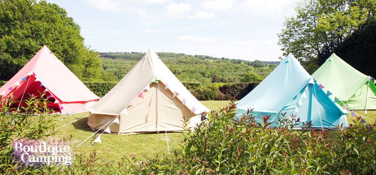 These fab Boutique tents are perf for glamping