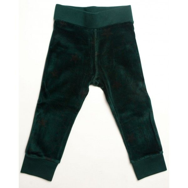 Donkergroene broek velours met sterren - Kik*Kid