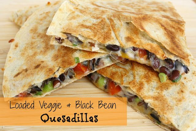 The Garden Grazer: Loaded Veggie & Black Bean Quesadillas - try with quinoa instead of rice, it is great!